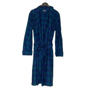 pendleton black watch tartan plaid wool robe